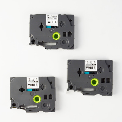 3PK TZ-231 TZe-231 Label Tape Black on White Compatible for Brother P-touch 12mm