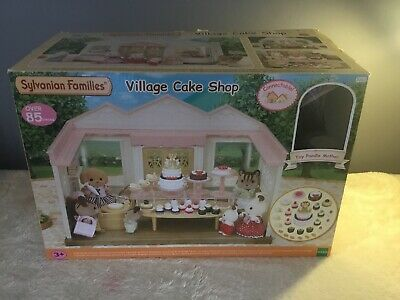 sylvanian families village cake shop 5263 Complete And Boxed