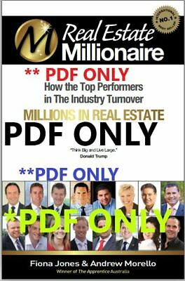 Real Estate Millionaire How the top performers in the industry turnover millions