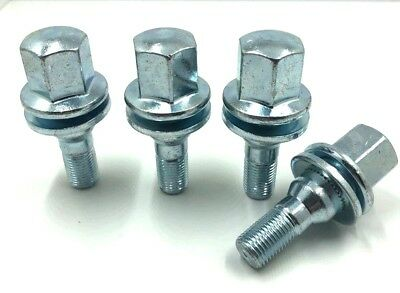 4 x ALLOY WHEEL BOLTS FOR CITROEN M12x1.25 (35MM LONG) FLAT SEAT LUGS NUTS [95]