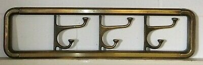 Late Victorian Articulated / Campaign  Brass Hat And Coat Rail