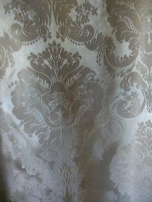 Luxurious Vintage Oyster & Silver Silk Brocade Drape
