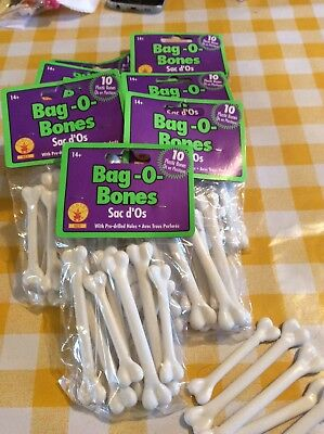 Bags of bones and glow in the dark skeletons bought for costume accessories