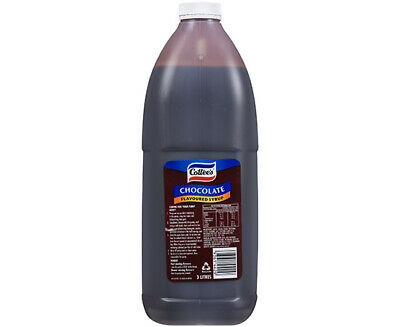 COTTEES CHOCOLATE FLAVOUR TOPPING SYRUP 3L Bottle Thick Shake Milkshake /Sundaes