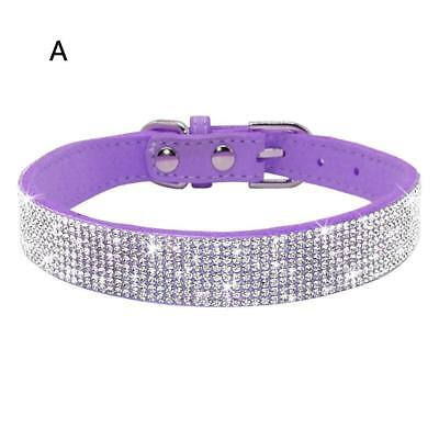 Crystal Diamante Pet Cat Dog Collars Fancy Bling Rhinestone Dog Necklace.AU Y