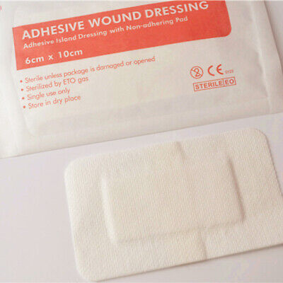 5pcs Non-Woven Medical Adhesive Wound Dressing Large Band Aid Bandage 6cm*10cm Y