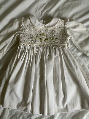 Girls Spanish Romany Smocked Baby Dress Exc Con 12 Months
