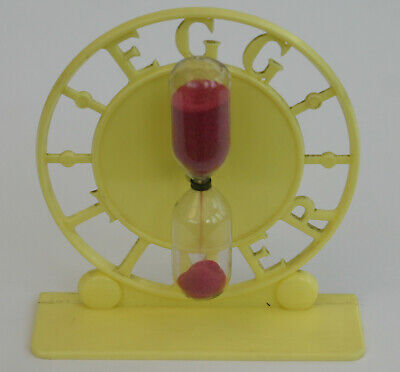 Vintage Retro Early Plastic Egg Timer - Yellow