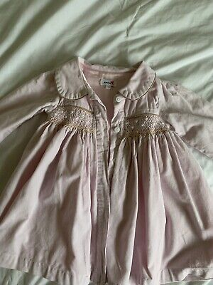 Baby Girls Spanish Aurora Romany Smocked Dress Coat 9-12months Exc Con