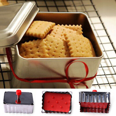 diy square biscuit cookie cutters stainless steel fondant pressed baking toolsXM