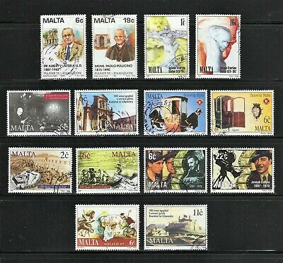 Malta -- 14 diff used from 1997 -- incl 4 complete sets -- cv $8.65