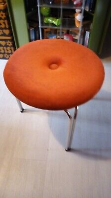 Tacke hocker Orange kupferfarben retro Sitz kinderhocker samt