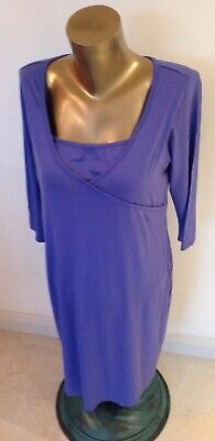Ladies Blue Maternity Dress By George Of Asda Size 14