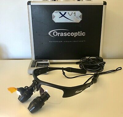 ORASCOPTIC XV1 3.8x Black Loupes Wireless HeadLight Dental