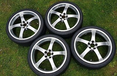 18 inch alloys wheels 5x100 Audi TT VW bora NB A3 Seat Golf tyres SET 225 35