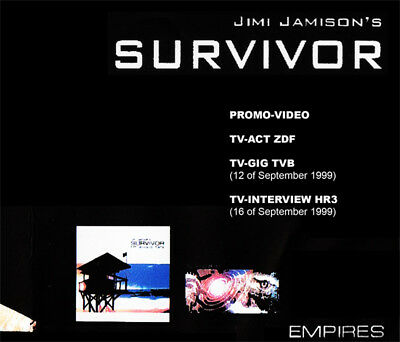 JIMI JAMISON'S SURVIVOR @RARE DVD !!! (Rocky IV,Baywatch Soundtrack,Empires) AOR