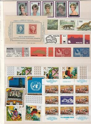 Worldwide Collection Of Singles, Sets , Blocks And Souvenir Sheets Vf Mnh
