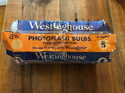 Vintage 36 Westinghouse Camera Flash Bulbs  No 5 Photoflash In Packages Tested