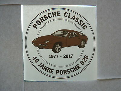 Porsche 928 Aufkleber 40 Jahr Sticker decal inside window adhesivo pegatina year