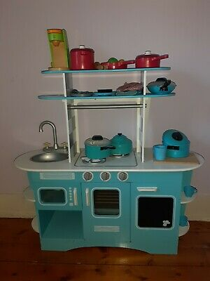 Early Learning Centre Children S Wooden Diner Kitchen Blue 5 50