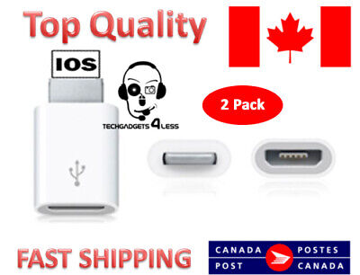 2X -Top Quality Micro USB Female to 8 pin male Lightning adapter for iPhone Ipad