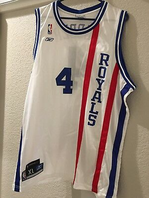 1290ba7ce NBA JERSEY SACRAMENTO KINGS ROYALS CHRIS WEBBER SZ XL Reebok WHITE signed  jersey