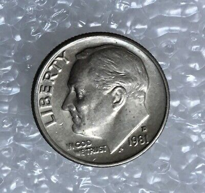 1981 - One Dime Coin - American / Usa - President Roosevelt