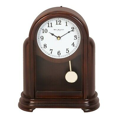 Art Deco Style Dark Wood Mantel Clock With Pedulum.new And Boxed.wooden Mantle
