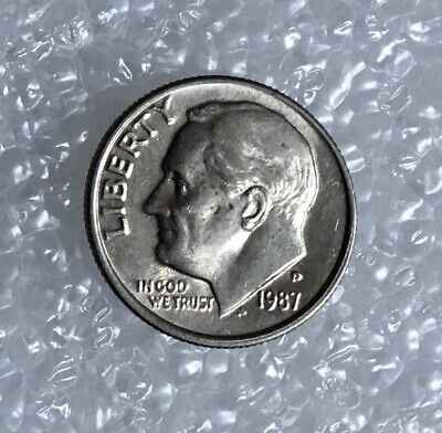 1987 - One Dime Coin - American / Usa - President Roosevelt