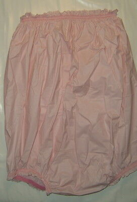adult baby breasthigh soft pink pvc pants