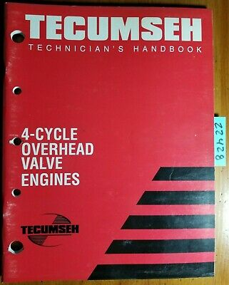 Tecumseh 4 Cycle OHV Engine Technician's Handbook Service Manual 695244A R 7/98