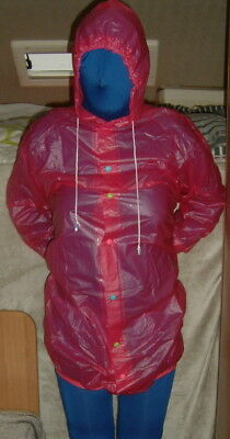 adult baby pink hooded pvc body opens up completely