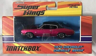 2005 Matchbox Classic Super Kings ~ RARE Pink 1970 Chevrolet Chevelle SS454 1/43