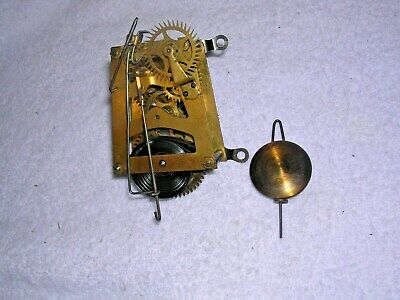 Clock  Parts , Small Movement, Single  Train  + Pendulum