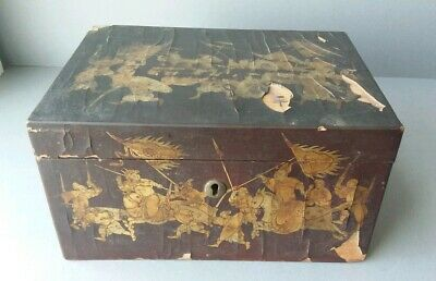Chinese Japanese Wood Lacquer Gilded Box for restoration.