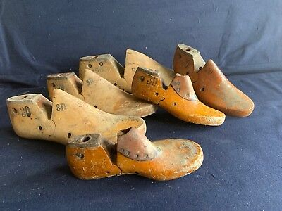 Lot of 6 Vintage Cobblers Wood Shoe Molds or Lasts: Children and Adult