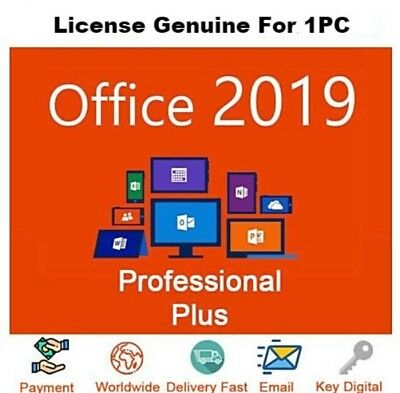 Office 2019 Pro Plus 32/64 Bit Dowload License Genuine For 1PC Fast Delivery