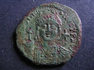 Byzantine (300-1400 Ad) Coins: Ancient Unresearched Ancient Byzantine Bronze Coin