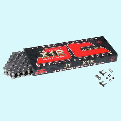 JT Steel X-Ring Heavy Duty Motorcycle Drive Roller Chain 520 X1R2 86 L Link