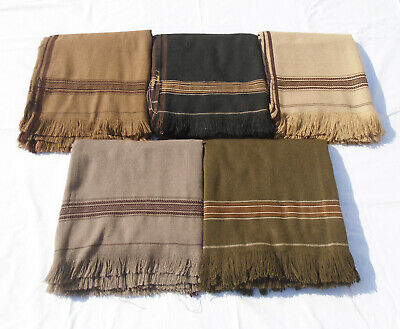 Afghan Patu Traditional Wool Warm Shawl Swati Long Scarf Pashton Unisex Blanket