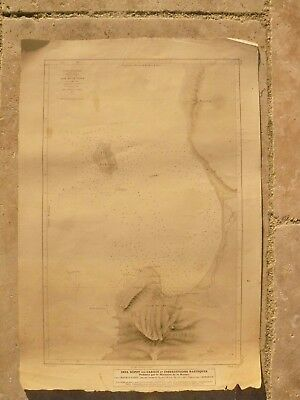 1852 Depot De La Marine Gravure Baie De La Table Rare Old French Nautique Chart