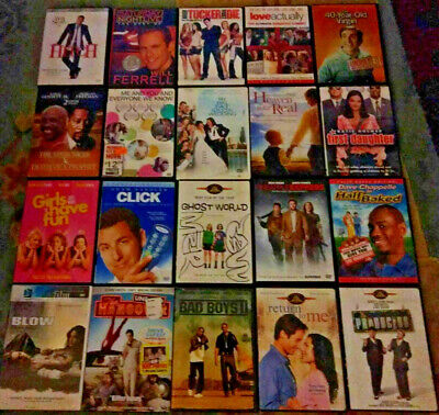Lot of 20 Comedy/Drama/Action/Funny Assorted Mixed Genre DVD Movies Collection