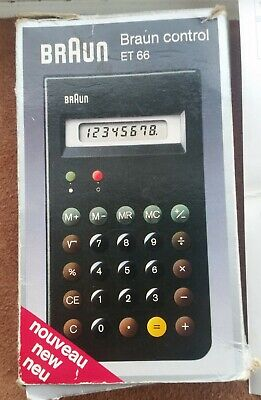 BRAUN ET 66 Control LCD Calculator RAMS Dietrich LUBS  1987 1ST EDITION
