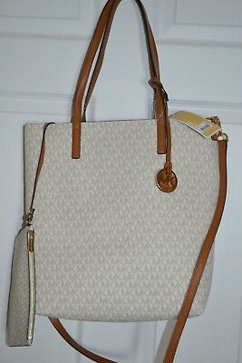 acd018cb0d44 Michael Kors Hayley Large North South Top Zip Tote - Vanilla Acorn NEW
