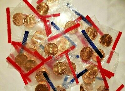 1989 P & D Lincoln Memorial Cent / Penny Set in MINT CELLO uncirculated BU