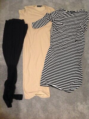 Maternity Bundle 2 Dresses 2 Leggings New Look Pretty Little Thing 8-10