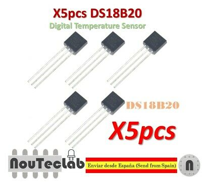 5pcs DS18B20 18B20 18S20 TO-92 IC CHIP Thermometer Temperature Sensor
