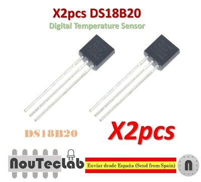 2pcs DS18B20 18B20 18S20 TO-92 IC CHIP Thermometer Temperature Sensor