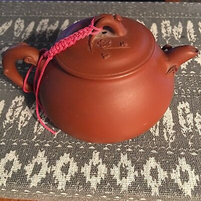 Chinese Yixing Clay Teapot Cherry Blossoms-small