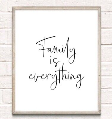 Family Is Everything Typography Print Poster Love Unframed Home Quote